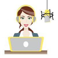 female-brown-haired-disc-jockey-radio-station-vector-8089723